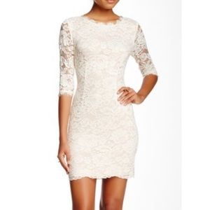 Lulus | All Over White Lace Bodycon Dress - XS